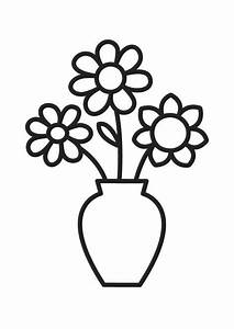 Flower Pot Outline - Cliparts.co