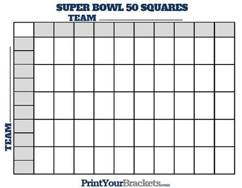 printable super bowl squares  grid office pool