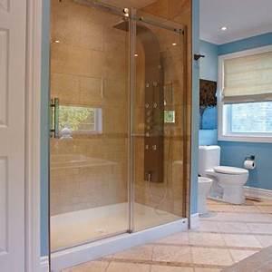 Building a ceramic tile shower stall 1 rona for Porte savon douche ceramique