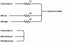 Resistor values for a passive audio mixer electrical for Passive mixer