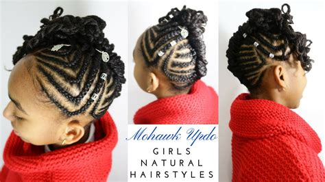 Braided Cornrows Mohawk Updo