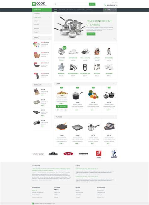 magasin d article de cuisine thème opencart adaptatif 53708 pour magasin d 39 articles