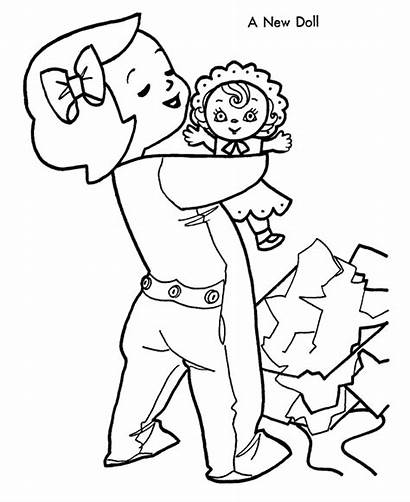 Coloring Pages Christmas Doll Morning Play Printable