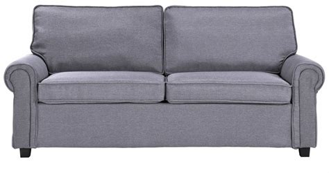 canapé tissu convertible 3 places deco in canape convertible 3 places en tissu gris