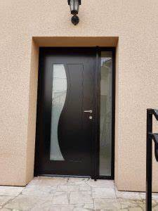 Porte D Entrée Tiercée : porte d 39 entr e alu luna avec tierce vitr e solabaie ~ Carolinahurricanesstore.com Idées de Décoration
