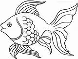 Coloring Goldfish Pages Printable sketch template