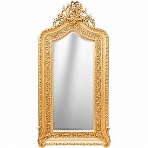 Grand Miroir Baroque : tr s grand miroir baroque dor de style louis xvi bicorne ~ Teatrodelosmanantiales.com Idées de Décoration