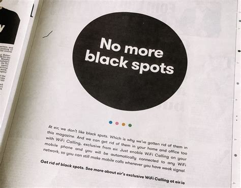 78 black spots on national in a for print advertising every black dot in a