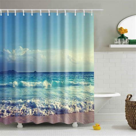 Waterproof Drapes - waterproof fabric nature scenery bathroom shower curtain