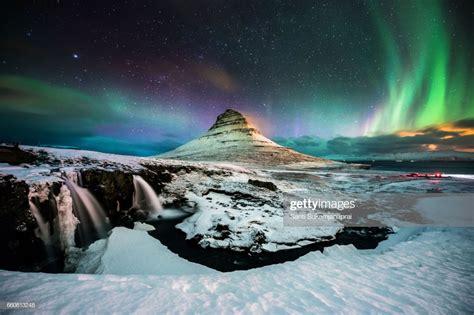Kirkjufell Aurora Borealis Iceland Stock Photo Getty Images