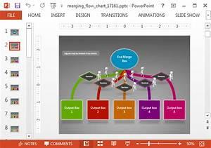 Merging Arrows Animated Flowchart Powerpoint Template