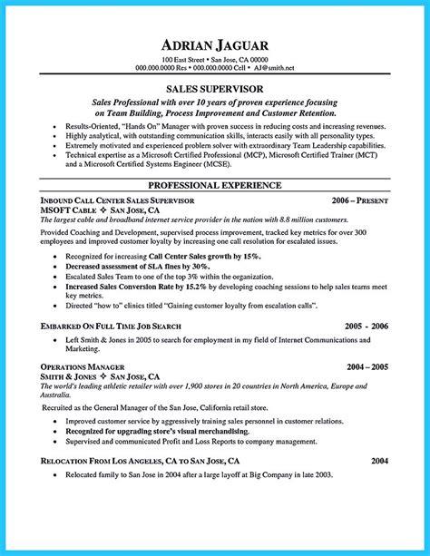 making call center supervisor resume