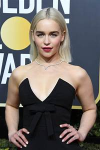 Emilia Clarke looked great at the 2018 Globes and Kit ...