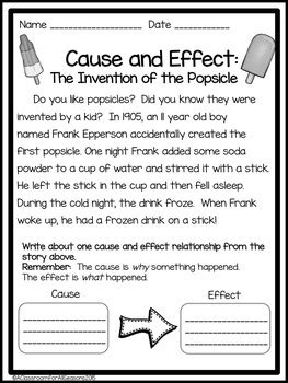 cause and effect worksheets and activities by a classroom for all seasons