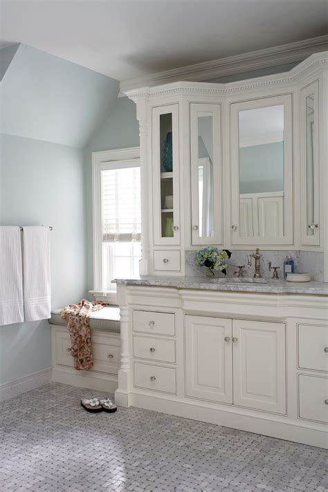 bathroom vanity cabinet Bathroom Farmhouse with beige