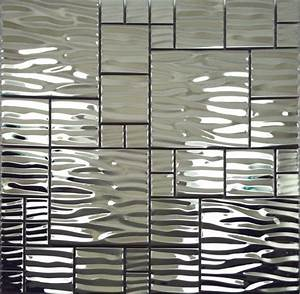 silver metal mosaic stainless steel kitchen wall tile With kitchen cabinets lowes with mirror mosaic wall art