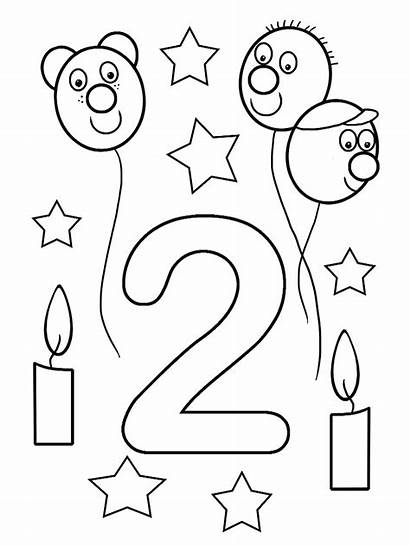 Birthday Happy 2nd Coloring Printable Card Brother