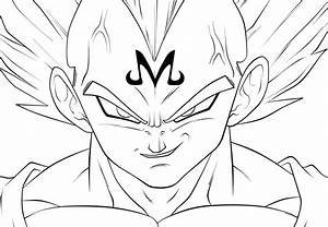 Dragon Ball Z Majin Vegeta Drawing