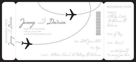 pretty boarding pass wedding invitation in 2019
