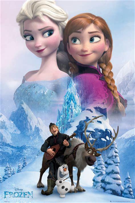 und elsa le la reine des neiges collage poster affiche acheter le sur europosters fr