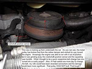 2004 Ford Explorer Crankshaft Pulley Failure  21