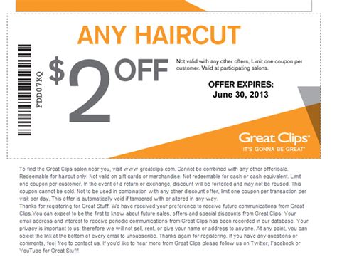 Coupon For Great Clips Printable / October 2018 Store Deals