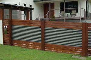 Ilandscape Product Colour Bond Fencing Merbau Timber The Dramatic Fence Designs For Your Front Yard