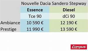 Dacia Sandero Stepway 4x4 Prix : dacia sandero diesel prix neuf ~ Gottalentnigeria.com Avis de Voitures