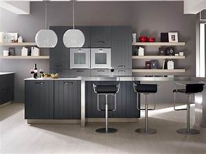 Craquez pour une cuisine grise elle decoration for Idee deco cuisine avec deco pour cuisine grise