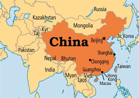 China Map Political (eastern Asia