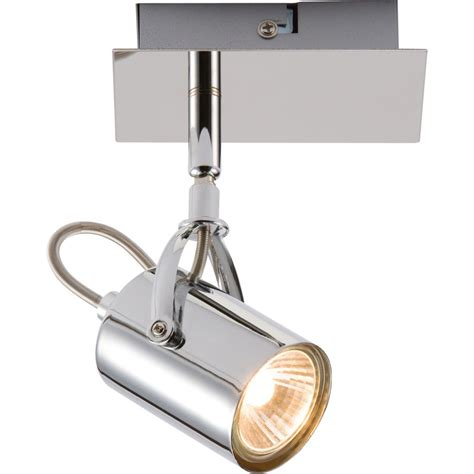 adjustable chrome wall or ceiling gu10 spot light fitting