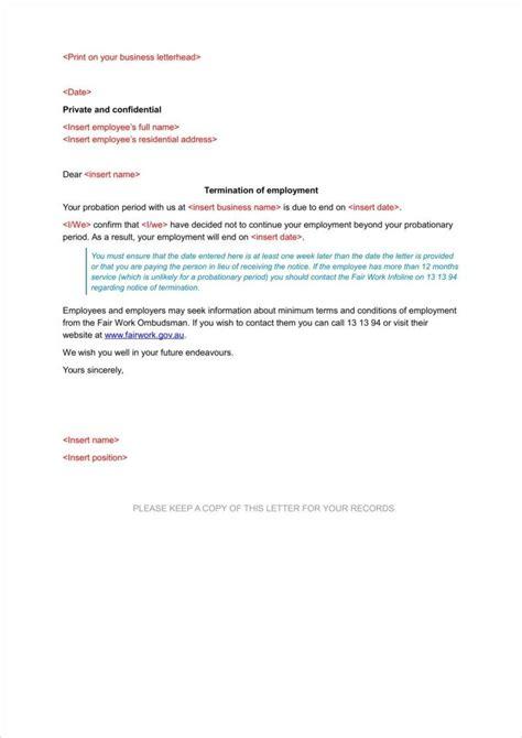 Employment Probation Letter Template by 10 Probation Termination Letter Free Premium Templates