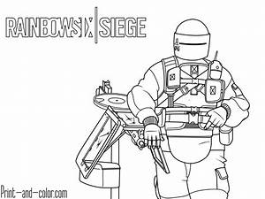 Rainbow Six Siege Coloring Pages Print And