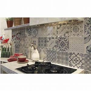 Imitation Carreaux De Ciment : carrelage imitation carreaux de ciment pour la cuisine ~ Dailycaller-alerts.com Idées de Décoration