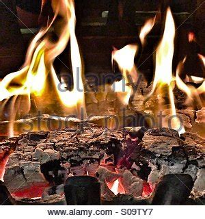 fireplace yule log stock photo 52493167 alamy