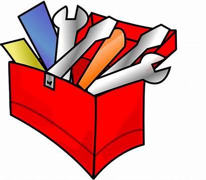 Toolbox Clipart Clip Tool Cartoon Box Vector