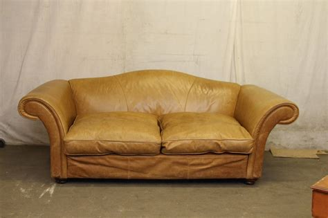 unique filled leather sofa and 1950s oversized