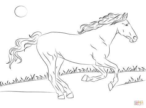 beautiful mustang horse coloring page  printable