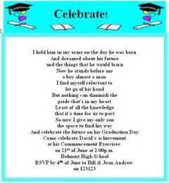 Graduation Party Invitation Quotes