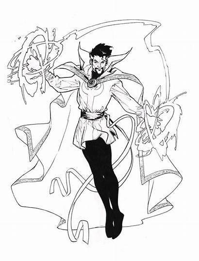 Strange Doctor Dr Coloring Pages Marvel Pichelli