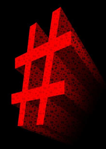 red  hashtag symbol  stock photo public domain
