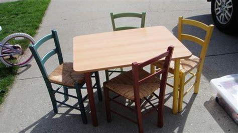 Rare Pottery Barn Kids Pbk Wooden Table Chair Set Kids