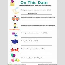 Get Into Grammar Writing Dates  Worksheet Educationcom