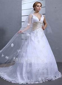 forme marquise col v traine mi longue dentelle robe de With robe de mariée jjshouse
