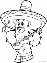 Mayo Cinco Coloring Pages Printable Sombrero Mexico Sheets Cool2bkids Sheet Printables Pinata Line Fiesta Christmas Food Crafts Adult Birthday Skull sketch template