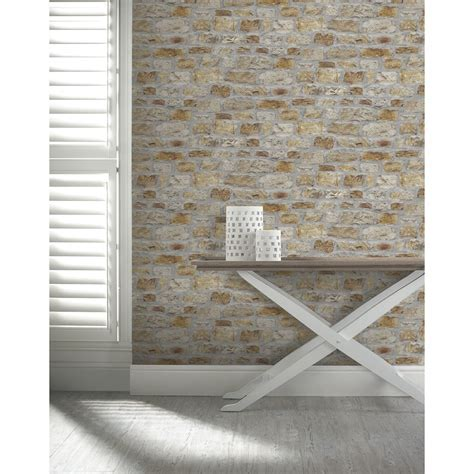 Arthouse Cottage Stone Wallpaper   Decorating, DIY   B&M