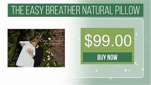 the easy breather natural pillow youtube With easy breather natural pillow