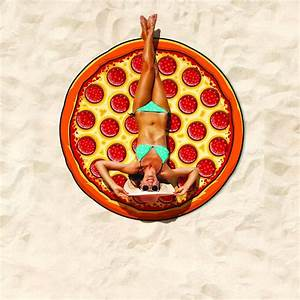 Serviette De Plage Xxl : drap de plage pizza xxl super insolite ~ Teatrodelosmanantiales.com Idées de Décoration