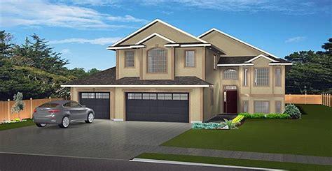 house plan  modified bi level   car garage