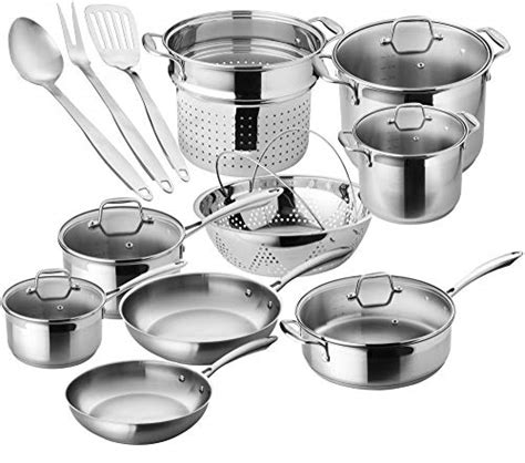 pans stainless steel pots chef gas stove star cookware pot induction kitchen amazon oven piece safe